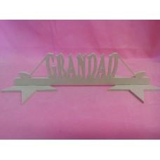MDF Grandad golf plaque